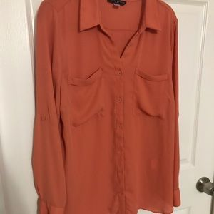 Blouse - tangerine color